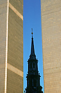 NYC, NY, World Trade Center, Twin Towers, and Saint Paul's Chapel
