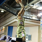 Delaware 87ers Forward Thanasis Antetokounmpo (19) drives towards the basket in the first half of a NBA D-league regular season basketball game between the Delaware 87ers (76ers) and Springfield Armor (Brooklyn Nets) Saturday, Apr. 05, 2014 at The Bob Carpenter Sports Convocation Center, Newark, DEL.