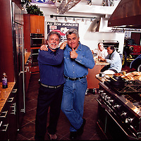 Wayne Eastep with Jay Leno at his Big Dog Garage, Burbank, CA