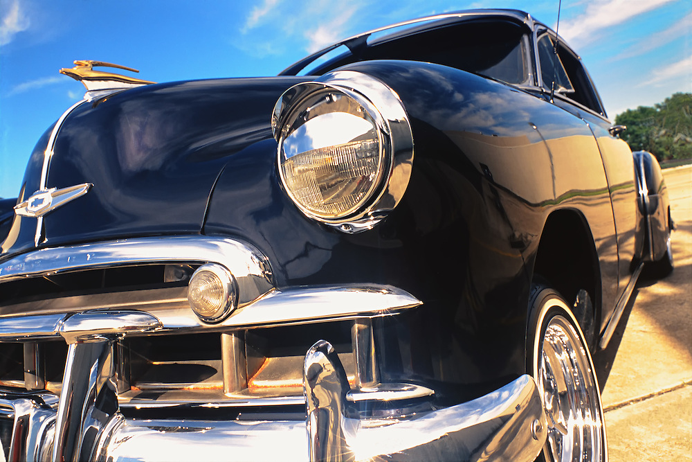 Black 1949 Chevrolet Fleetline Lo-Rider in Houston, Texas.