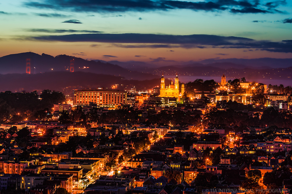 Golden Gate Bridge, St. Ignatius Church, & University of San Francisco