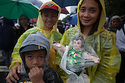 The day was also the feast of the Santo Niño and many people brought their holy figures and statues with them. Despite it raining all day, between six and seven million people turned out for a mass by Pope Francis in Rizal Park in Manila.