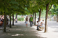 Palais des Tuileries Paris France in Spring time of May 2008