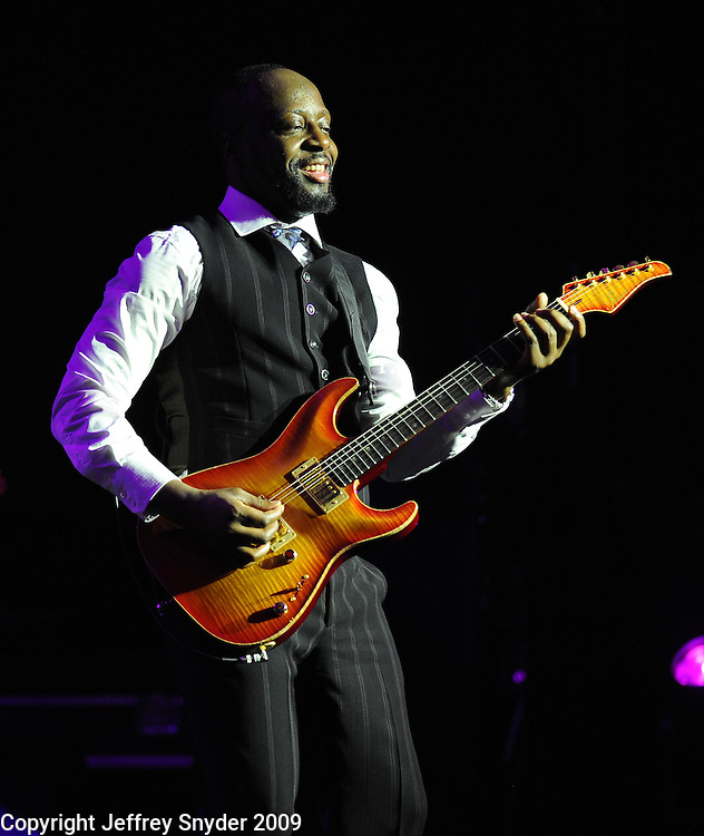 Wyclef Jean performs at the BET Inaugural Gala, held at the Mandarin Oriental Hotel in Washington, DC