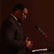 Red Lion Christian Academy Mr. DaQuan Gibson of Bible Department addresses students during commencement exercise Friday, May 29, 2015, at Glasgow Church in Bear, Delaware.