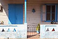 House porch in San Antonio de Rio Blanco, Mayabeque, Cuba.