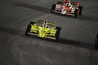 Ed Carpenter, Helio Castroneves, Meijer Indy 300, Kentucky Speedway, Sparta, KY 010809 09IRL12