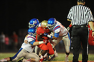 Lafayette High's Tyrell Price (8) vs. Memphis University School in Oxford, Miss. on Friday, September 27, 2013. MUS won.