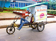 Cake delivery in Moron, Ciego de Avila, Cuba.