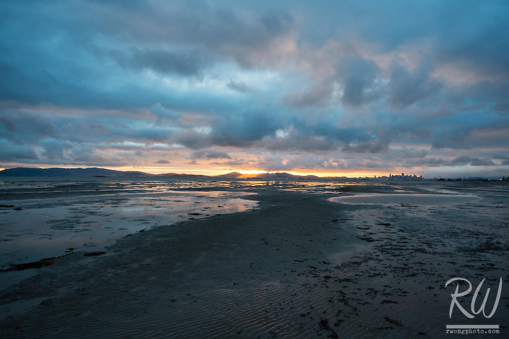 Stormy Sunset at Robert Crown Memorial State Beach, Alameda, California