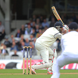 India's Ravichandran Ashwin looks for runs during the first day of the Investec 5th Test match between England and India at the Kia Oval, London, 15th August 2014 © Phil Duncan | SportPix.org.uk