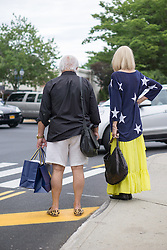 tourists on the Fourth of July in East Hampton, NY