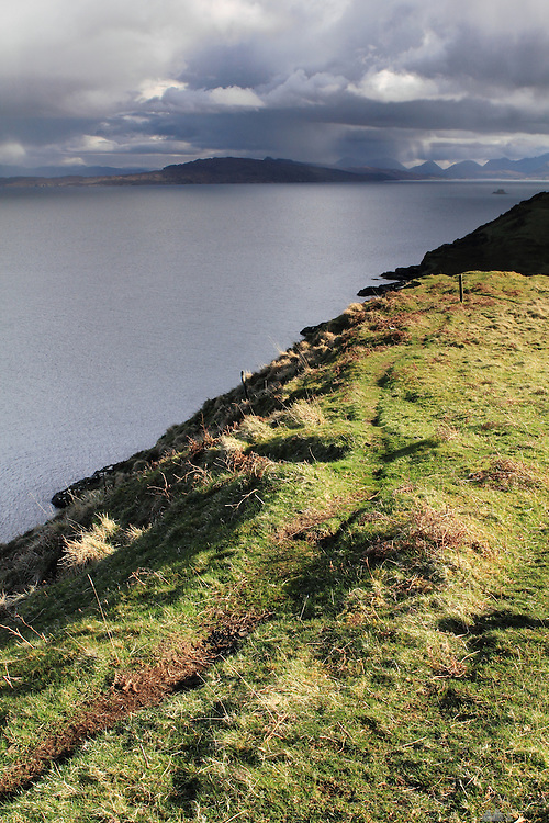 View just north of the Old Man of Storr, on the Trotternish Peninsula of the Isle of Skye, Scotland