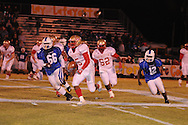 Lafayette High's Demarkous Dennis (5) runs vs. Senatobia High in Senatobia, Miss. on Friday, October 21, 2011. Lafayette High won.