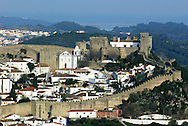 view from  the medieval village of Obidos, with castle walls that encircle the town, .Paulo Cunha/4see