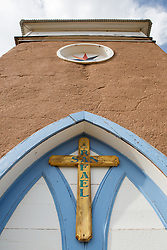 Detail of The Mission Church of San Rafael in New Mexico