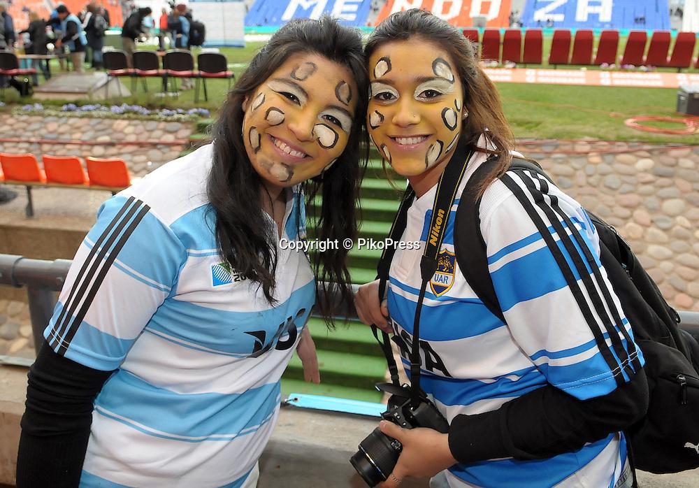RUGBY CHAMPIONSHIP 2012 - <br /> LOS PUMAS (Argentina) 16 Vs. South Africa (16)<br /> Estadio Ciudad de Mendoza / Mendoza - Argentina - August 25, 2012<br /> Here Argentine Los Pumas supporters fans<br /> &copy; PikoPress