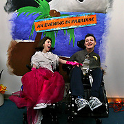 The Center for Medically Fragile Children at the Providence Medical Center holds their spring prom. Participants Shayna Krantz (left) has her picture taken with another friend...