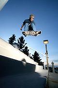 Skateboarder Ted Kim in Anchoage, Alaska. 2010