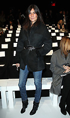 FEB 09 2013 Front row guests at New York Fashion Week