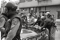 Arrests of students when US National guard take over town  during People's Park Student protest & riots in Berkeley California 1969