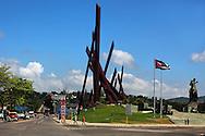 Plaza de la Revolución in Santiago de Cuba, Cuba.