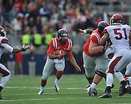 Mississippi quarterback Barry Brunetti (11) vs. Arkansas at Vaught-Hemingway Stadium in Oxford, Miss. on Saturday, November 9, 2013. Mississippi won 34-24. (AP Photo/Oxford Eagle, Bruce Newman)