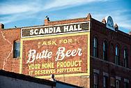 Butte, Montana, Scandia Hall, Antique mural, uptown