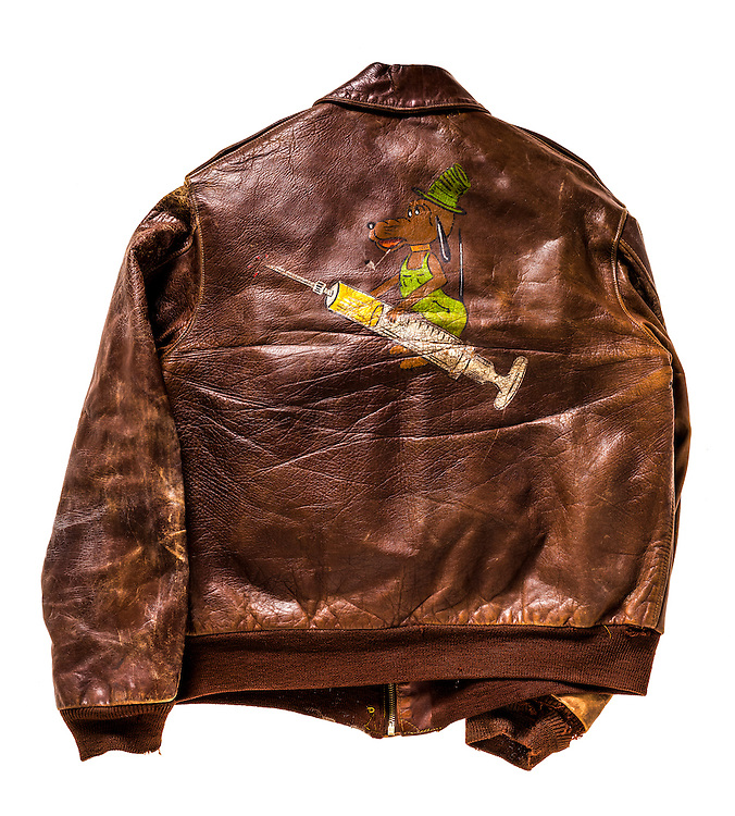 A-2 bomber jacket that belonged to Cpt. W.R. Kavanaugh, a flight surgeon.