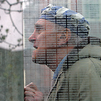 Holocaust survivor Stephan Ross talks about his experiences while pausing in the Holocaust Memorial, Sunday,  May 04, 2008.
