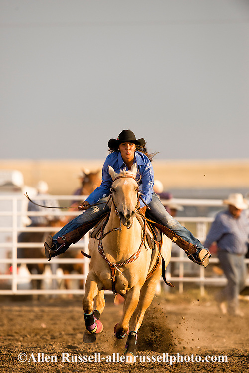 Rocky Boy Rodeo Barrel Racing on Rocky Boy Indian