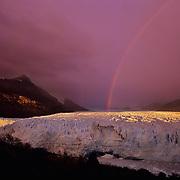 Enormous Perito Moreno Glacier at dawn in Parque Nacional las Glaciares, Patagonia, Argentina.