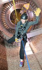 File Photo - Royal Marines abseil down BT Tower