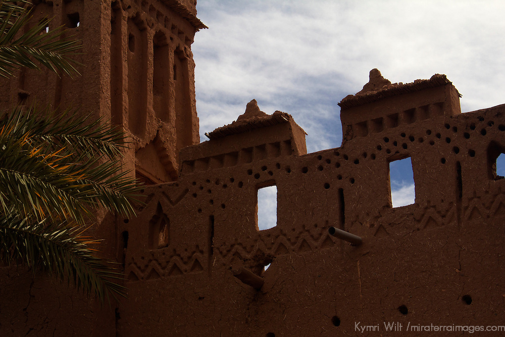 Africa, Morocco, Ourazazate. Ait Ben Haddou windows.