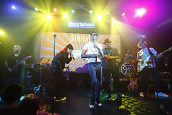 "LOS ANGELES, CA - MAY 2: Ozomatli performs on stage with Regulo Caro, Mariachi Divas and Banda Maravillosa at the Troubadour promoting the new album ""Non-Stop: Mexico to Jamaica"" in West Hollywood on Tuesday  May 2, 2017, in Los Angeles, California. Byline, credit, TV usage, web usage or linkback must read SILVEXPHOTO.COM. Failure to byline correctly will incur double the agreed fee. Tel: +1 714 504 6870."