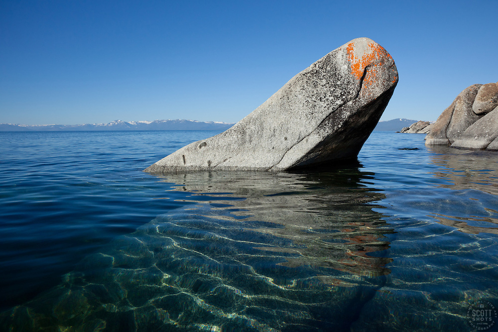 """""""Boulders on Lake Tahoe 23"""" - These boulders were photographed in the morning near Speedboat Beach, Lake Tahoe."""