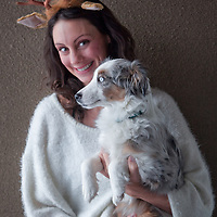 Tara O'Hanley and her 8 month old miniture Austraian, Lux, Anchorage