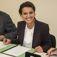 Najat Vallaud-Belkacem, French Minister Of National Education Visits Lyon Sud Charles Merieux Univer