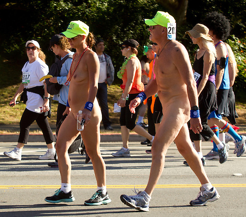 Chubby naked male runners