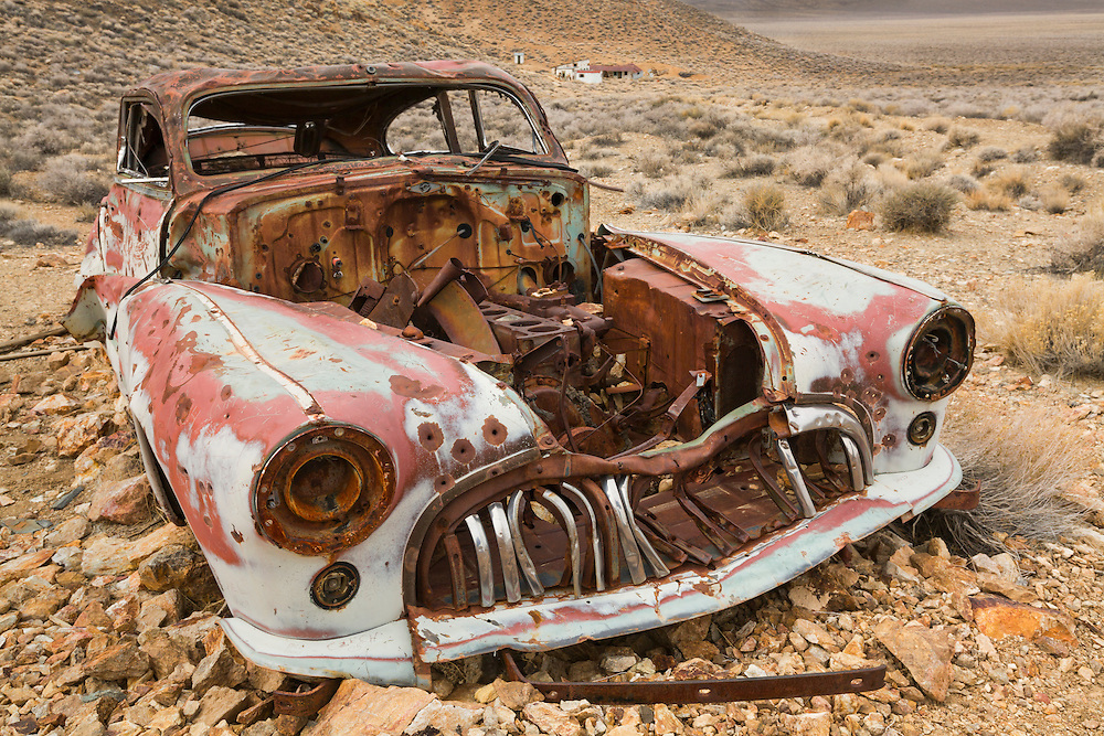 Abandoned 1947 Buick Roadmaster - Eureka Mine - Death Valley, CA