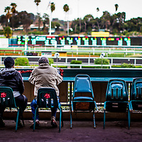 Fans pay their final visits  on December 21, 2013 at Betfair Hollywood Park in Inglewood, California . The Track is set to close on December 22, 2013 after operating for 75 Years.(Alex Evers/ Eclipse Sportswire)