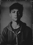 Sean Gerald Hawkey, tintype portrait made with wetplate collodion process.