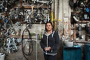 Rita Ortiz, manager of Magic Auto Glass on Western Avenue.