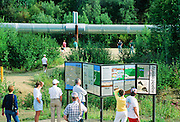 Alaska. Fairbanks. Trans-Alaska pipeline information kiosk on the Steese Highway.