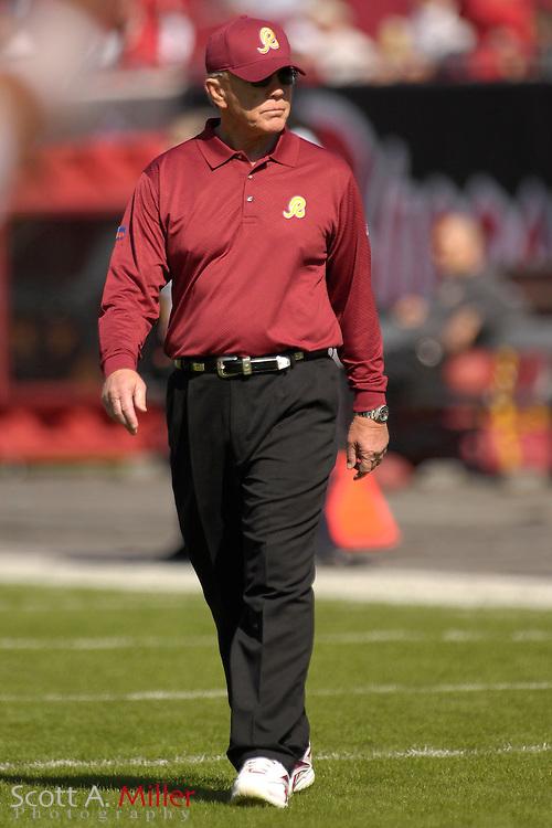 Nov. 19, 2006; Tampa, FL, USA; Washington Redskins coach Joe Gibbs on the during his team's 20-17 loss to the Tampa Bay Buccaneers at Raymond James Stadium. ...©2006 Scott A. Miller