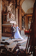 ITALY, ROME Capitoline Hill, the Palazzo Conservato a popular location for civil weddings  and backdrop for wedding photos