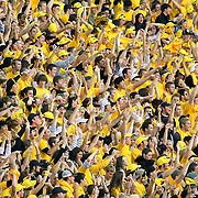 SHOT 10/4/08 5:57:36 PM - Colorado's students cheer after an interception against Texas during the first half of the game at Folsom Field in Boulder, Co. Colorado fans didn't have much to cheer for as Texas rolled to a 38-14 victory behind 431 yards of total offense in the game..(Photo by Marc Piscotty / © 2008)