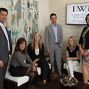 Jason Labrum and the team at Labrum Wealth Management are photographed in a casual business portrait by Dallas corporate photographer William Morton of Morton Visuals.