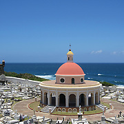Santa María Magdalena de Pazzis Cemetery overlooking the Atlantic Ocean in Old San Juan, Puerto Rico. Oceanfront location!