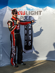 FONTANA, CA - MAR 20 NASCAR Driver Kurt Busch wins pole for Sunday's NASCAR Sprint Cup race at Auto Club Speedway. Kurt finished first in the morning practice 1 with a top speed of 186.741 MPH, the fastest lap of the day.  in  Los Angeles, USA. 2015 Mar 20.. This is the ony presser. 2015 Feb 9. Byline, credit, TV usage, web usage or linkback must read SILVEXPHOTO.COM. Failure to byline correctly will incur double the agreed fee. Tel: +1 714 504 6870.